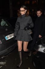 BELLA HADID Leaves Royal Monceau Hotel in Paris 03/01/2018