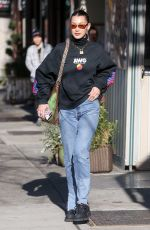 BELLA HADID Out and About in New York 03/22/2018
