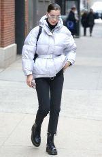 BELLA HADID Out and About in New York 03/23/2018