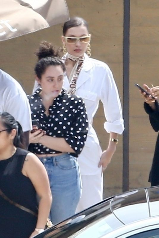 BELLA HADID Out for Lunch at Nobu in Malibu 03/16/2018
