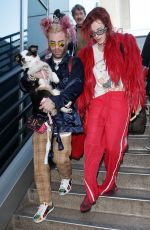 BELLA THORNE and Mod Sun at JFK Airport in New York 03/23/2018