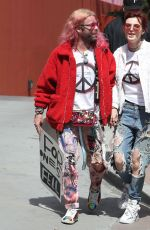 BELLA THORNE and Mod Sun Marches at Anti-gun March for Our Lives Rally in Los Angeles 03/24/2018