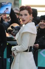 BELLA THORNE Arrives at AOL Build Series in New York 03/22/2018