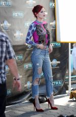 BELLA THORNE on the Set of Extra in Studio City 03/27/2018