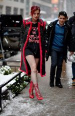 BELLA THORNE Out in New York 03/21/2018