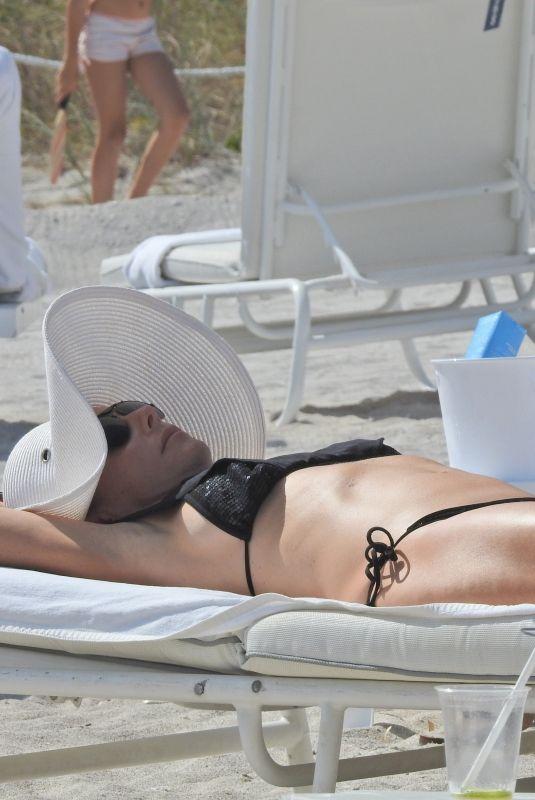 BETHENNY FRANKEL in Bikini at a Beach in Miami 03/30/2018