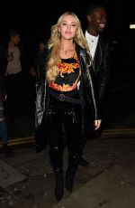 BETSY-BLUE ENGLISH Arrives at Mahiki Nightclub in Kensington 03/30/2018