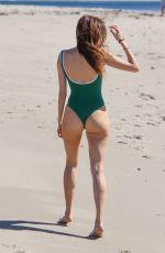 BLANCA BLANCO in Green Swimsuit at a Beach in Malibu 03/29/2018