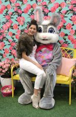 BLANCA BLANCO Poses with Easter Bunny in Los Angeles 03/30/2018