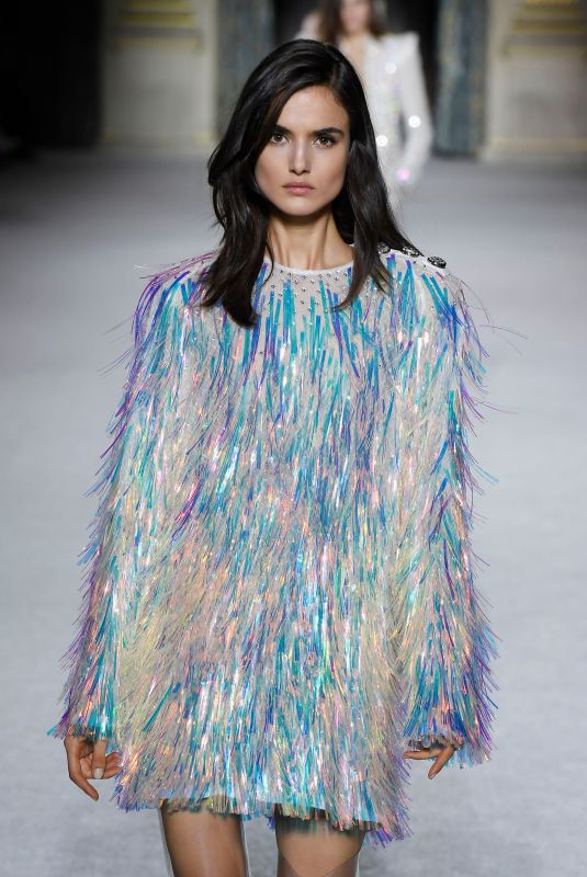BLANCA PADILLA at Balmain Fashion Show at Paris Fashion Week 03/02/2018