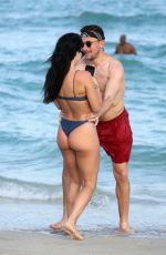 BRE TIESI in Bikini and Johnny Manziel at a Beach in Miami 03/01/2018