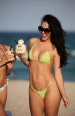 BRE TIESI in Bikini on the Beach in Miami 02/28/2018