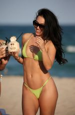 BRE TIESI in Bikini on the Beach in Miami 02/28/2018