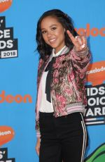 BREANNA YDE at 2018 Kids' Choice Awards in Inglewood 03/24/2018