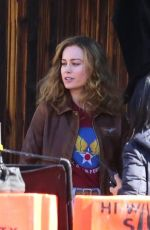 BRIE LARSON at Captain Marvel Set in Los Angeles 03/29/2018