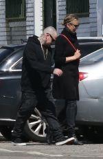 CAMERON DIAZ and Benji Madden Arrives at a St. Patrick