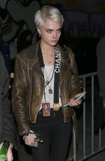 CARA DELEVINGNE Arrives at Fonda Theater at The Darkness Concert in Hollywood 03/30/2018