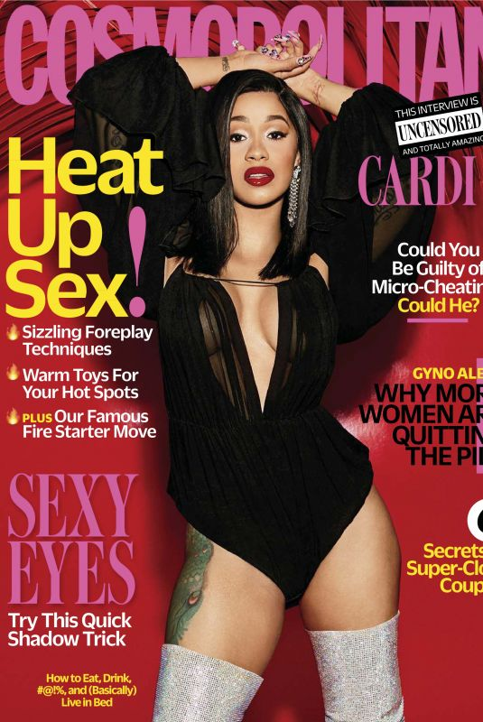 CARDI B in Cosmopolitan Magazine, April 2018 Issue
