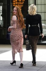 CAROLINE DAUR and LARSEN THOMPSON Arrives at Juicy Couture Luncheon in Los Angeles 03/17/2018