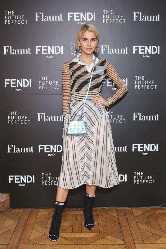CAROLINE DAUR at Fendi x Flaunt Celebrate New Fantasy Issue in Los Angeles 03/21/2018