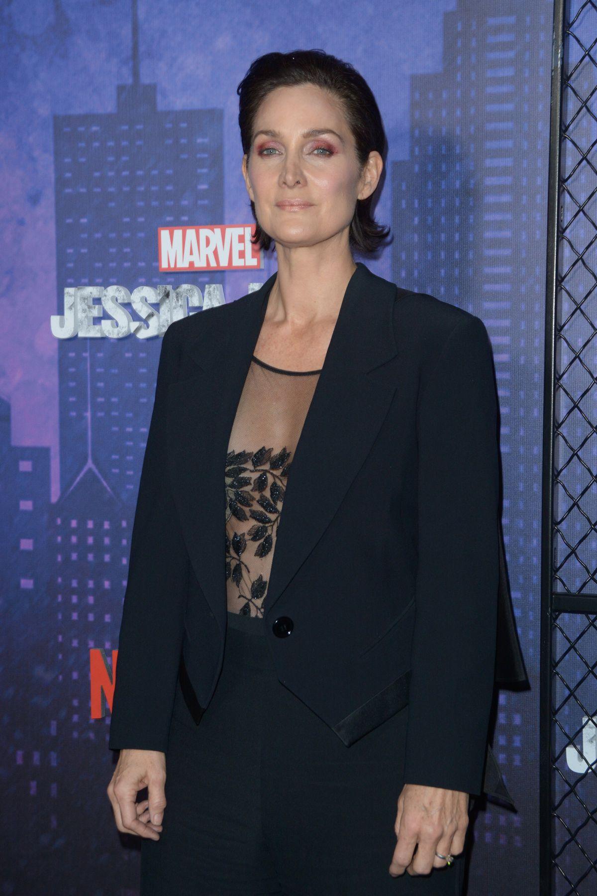 Carrie Anne Moss At Jessica Jones Season 2 Premiere In New