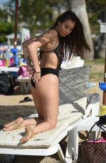 CHLOE GOODMAN in Swimsuit at a Beach in Cyprus 03/02/2018