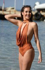 CHLOE GOODMAN in Swimsuit on the Beach in Dubai 03/28/2018