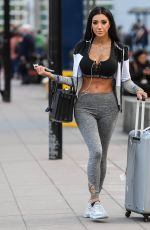 CHLOE KHAN at Airport in Manchester 03/27/2018