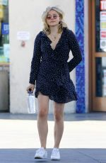 CHLOE MORETZ at a Gas Station in Los Angeles 03/26/2018
