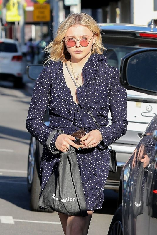 CHLOE MORETZ Shopping at Golden Age in West Hollywood 03/26/2018