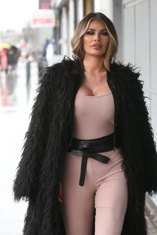 CHLOE SIMS Arrives at Faces Nightclub in Ilford 03/29/2018