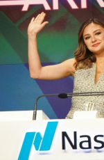 CHRISTINE EVANGELISTA Rings the Nasdaq Opening Bell at Nasdaq Marketsite in New York 03/09/2018