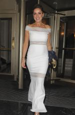CLAIRE SWEENEY Leaves Dorchester Hotel in London 03/18/2018