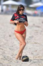 CLAUDIA ROMANI in Bikini Bottom on the Beach in Miami 03/12/2018