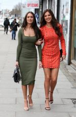 CLEILA THEODOROU and SHELBY TRIBBLE on the Set of TOWIE in London 03/29/2018