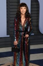CONSTANCE WU at 2018 Vanity Fair Oscar Party in Beverly Hills 03/04/2018