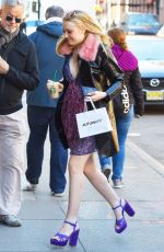 DAKOTA FANNING Arrives at Today Show in New York 03/26/2018