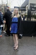 DAKOTA FANNING at Valentino Show at Paris Fashion Week 03/04/2018