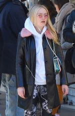 DAKOTA FANNING Heading to Soulcycle in New York 03/26/2018