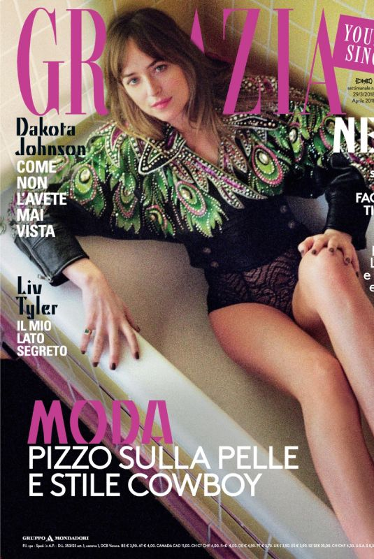 DAKOTA JOHNSON in Grazia Magazine, Italy March 2018