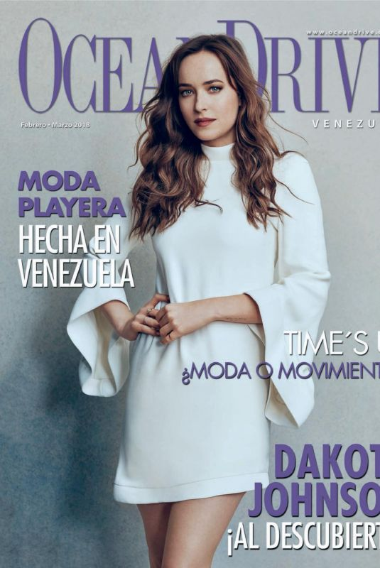 DAKOTA JOHNSON on Ocean Drive Magazine, Venezuela February/March 2018