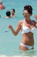 DANIELLE LLOYD in White Bikin on the Beach in Dubai 03/29/2018