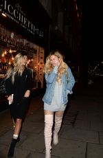 DANIELLE SELLERS Arrives at Reign Nightclub in London 03/27/2018