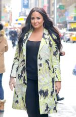DEMI LOVATO Arrives at SiriusXM Studios in New York 03/22/2018