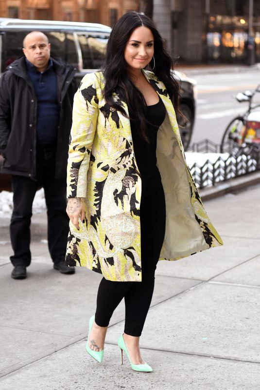 DEMI LOVATO Arrives at Z100 Radio in New York 03/22/2018