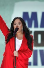DEMI LOVATO at March for Our Lives in Washington, D.C. 03/24/2018