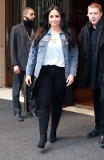 DEMI LOVATO Leaves Her Hotel in New York 03/23/2018