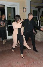 DEMI LOVATO Leaves Prime 112 Restaurant in Miami 03/29/2018