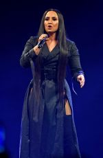 DEMI LOVATO Performs at Her Tell Me You Love Me Tour at American Airlines Arena in Miami 03/30/2018