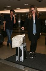 DIASY FUENTES and Richard Marx at LAX Airport in Los Angeles 03/21/2018